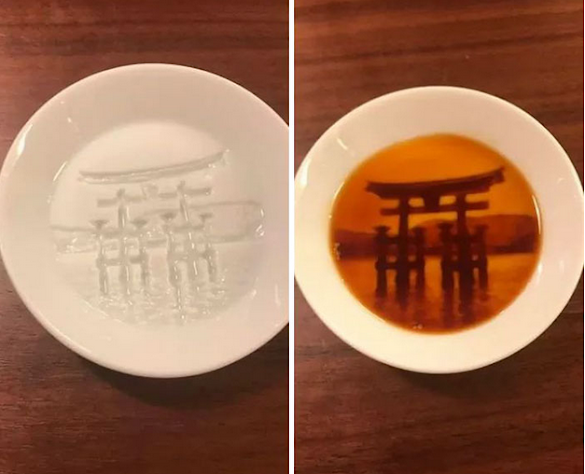 "After Pouring Soy Sauce Into These Plates, Entire ""Hidden Paintings"" Appear"