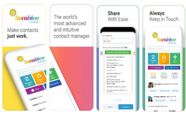 Sunshine Contacts app