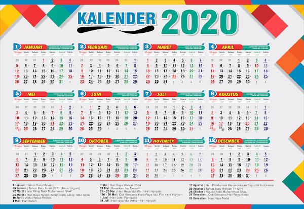 DESAIN GRATISAN KALENDER 2020