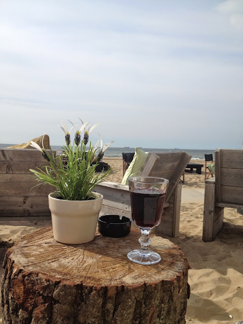 Chilling on Scheveningen Beach