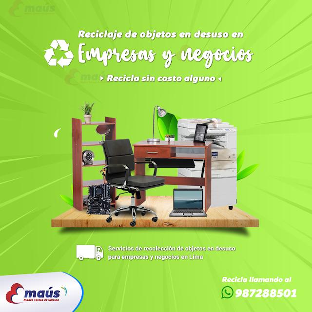 Reciclaje de objetos en desuso en Empresas