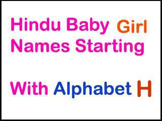 Modern Hindu Baby Girl Names Starting With H