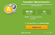 "Pasapalabra ""Material Deportivo"""