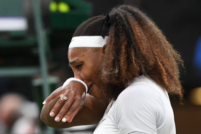 Tearful Serena Williams makes early exit from Wimbledon with injury