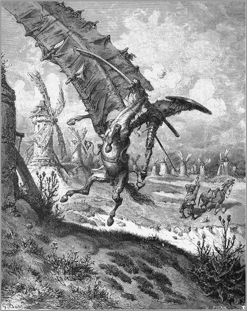 Don Quijote en el nuevo mundo III, Clavileño en América, Tomás Moreno