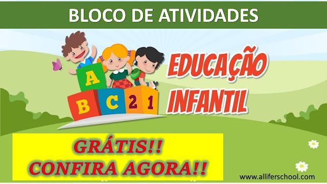 Bloco de atividades para imprimir Educação Infantil