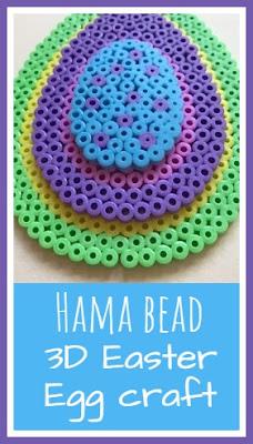 Hama bead Easter Eggs 3D craft