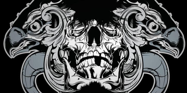 Hydro 74 Illustration - Skull