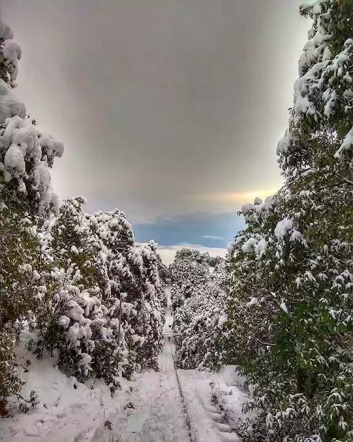 Winch camp in winter