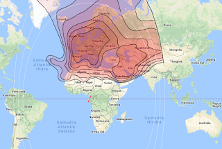 Footprint Satellite Eutelsat 10A 10.0°E KU Band