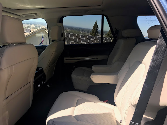 Second-row seats in 2020 Ford Expedition Platinum