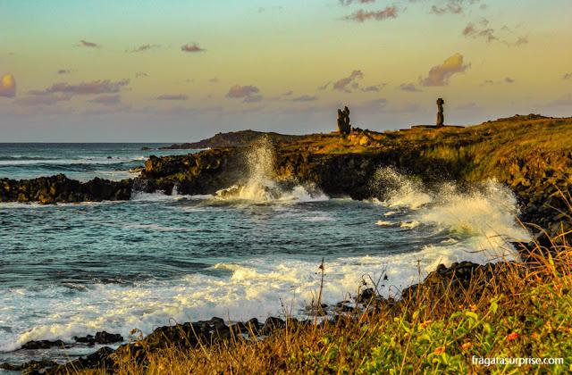 Final de tarde em Hanga Roa, Ilha de Páscoa