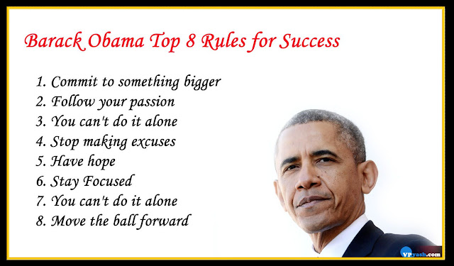 Barack Obama Top 8 inspiring Rules for Success