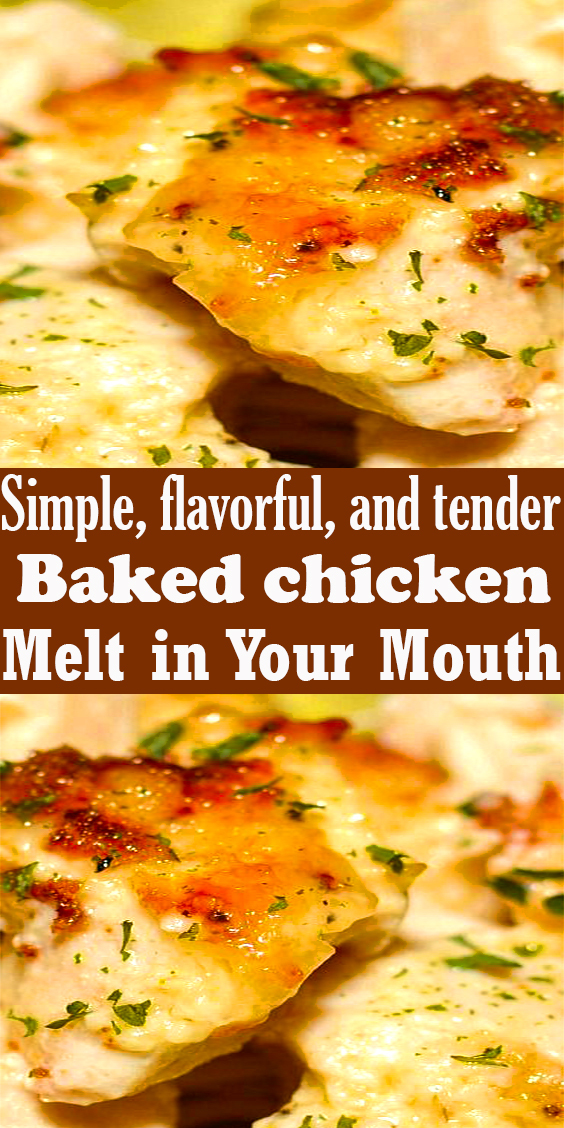 Melt in Your Mouth baked Chicken # #chickenrecipe #bakedchicken #chickenbreast #chickendishes #chickendinner