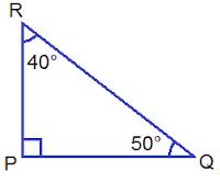 Right Angled Triangle PQR