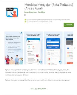 Platform Merdeka Mengajar di Play Store