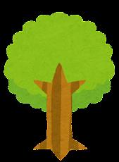 いろいろな木のイラスト「黄緑」