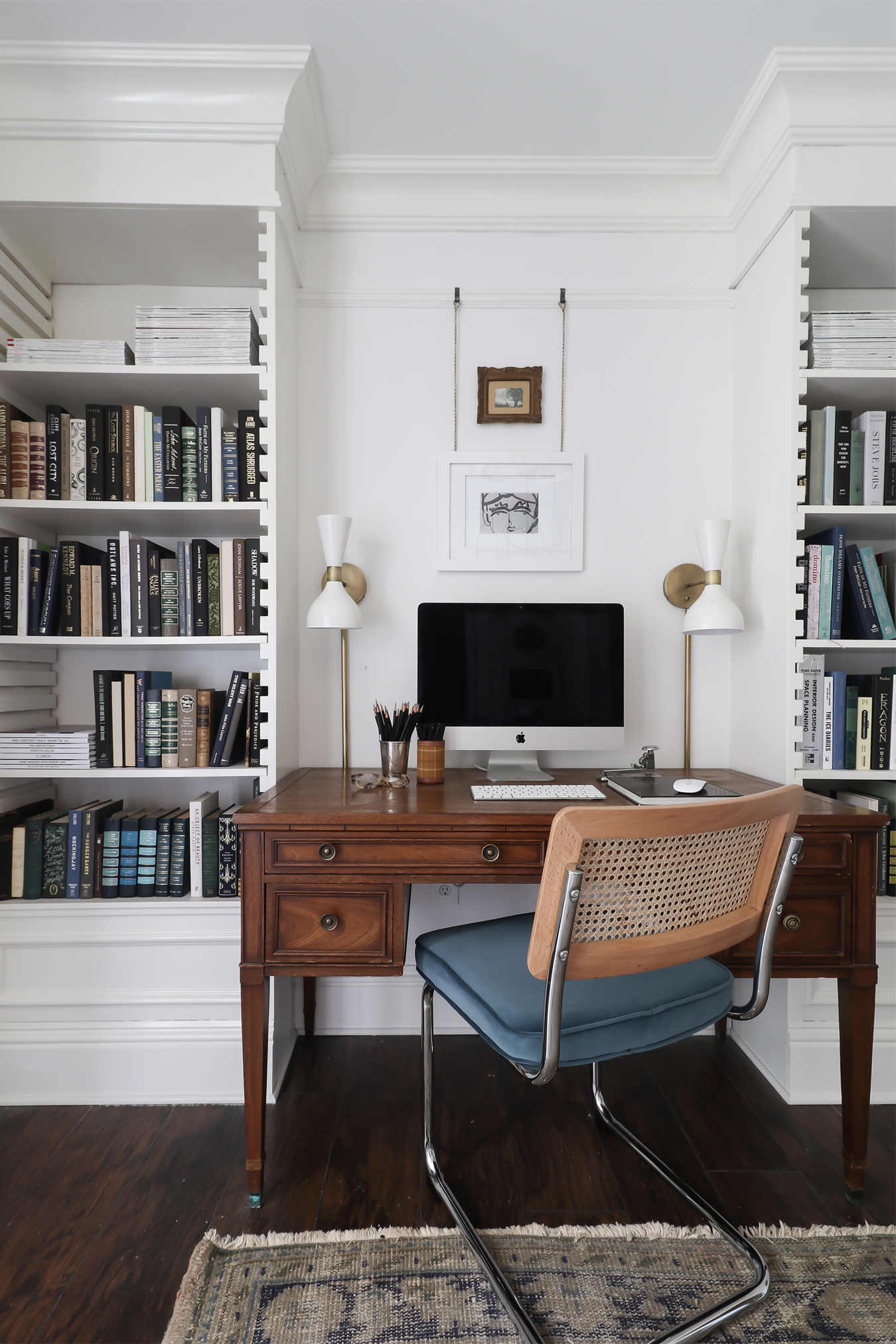 Décor Inspiration: The Beautiful Home Office of Kristin Jackson at Hunted Interior