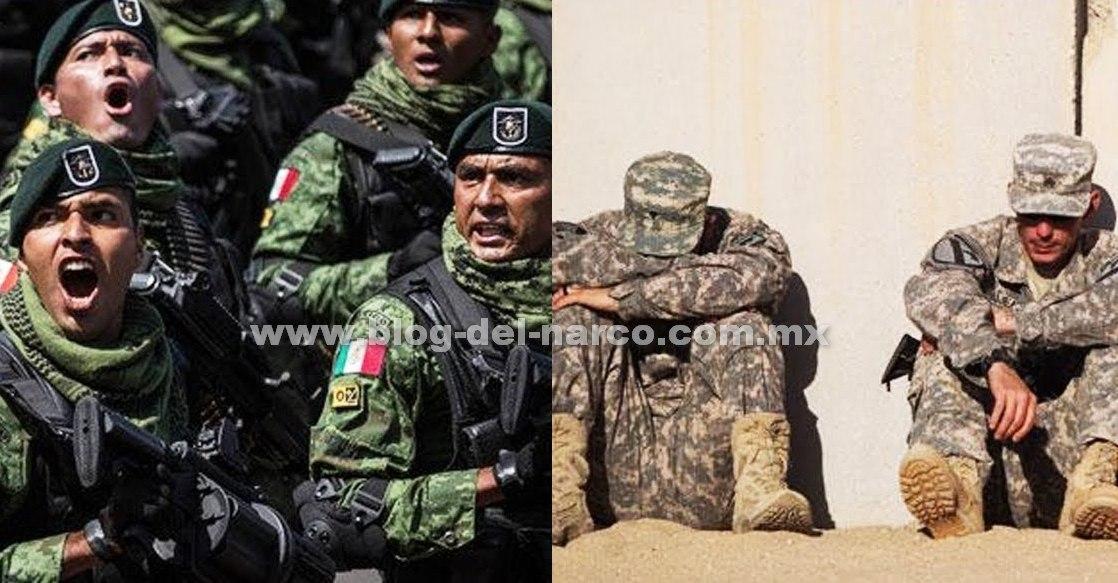 Como olvidar cuando nuestros Soldados Mexicanos desarmaron en la frontera a Soldados Gringos y los Interrogaron