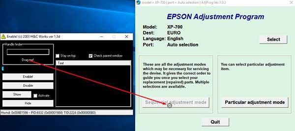Reset Epson XP-700