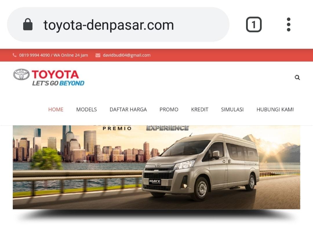 Website Toyota Denpasar by Bayu-Media Web & Ads