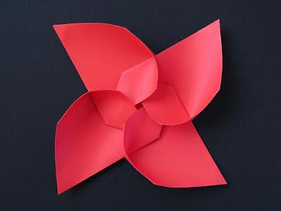 Vista 1, origami modulare: Girandola modulare - Modular Pinwheel by Francesco Guarnieri