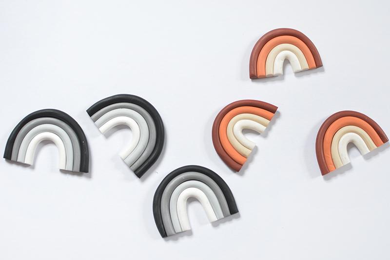 DIY rainbow magnets