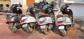2 शातिर वाहन चोर एवं 2 चोरी के वाहन खरीदने वाले गिरफ्तार