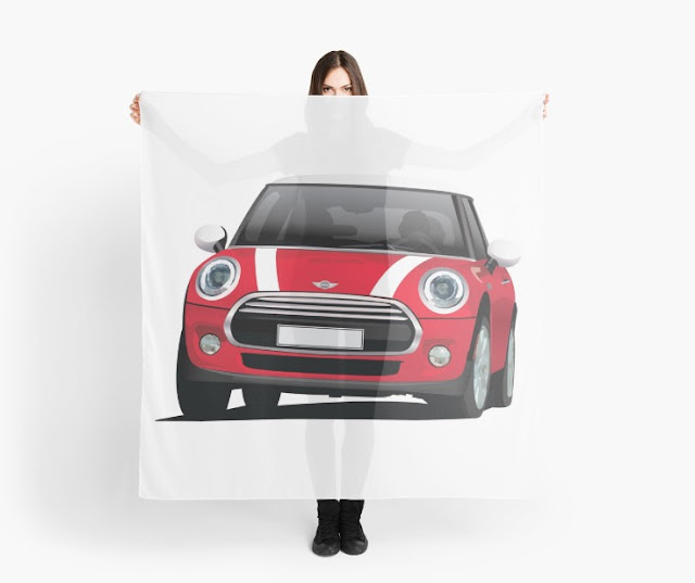 MINI Cooper  illustration scarf