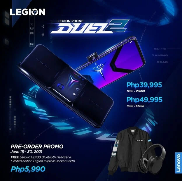 Lenovo Releases the Legion Phone Duel 2 in PH; Price Starts at Php39,995