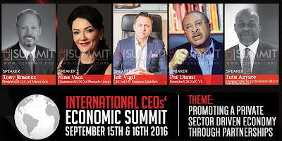 International CEOs' Economic Summit | ICESUMMIT 2016 set to hold in Lagos (find out why you MUST partake)