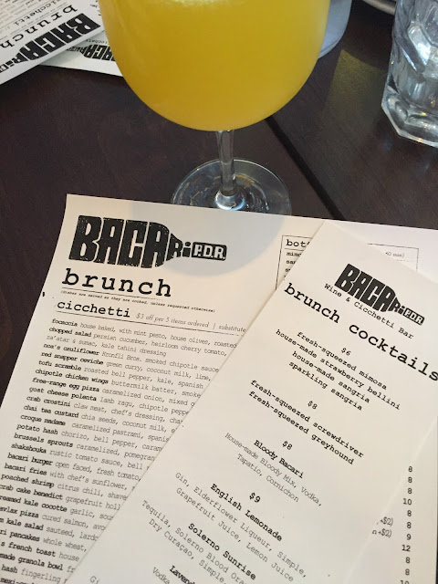 Bacari P.D.R. brunch menu