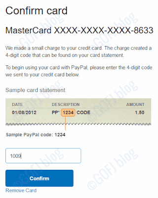 Linking debit or credit card to PayPal account