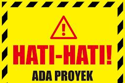 Template Banner Hati-Hati Ada Proyek CDR