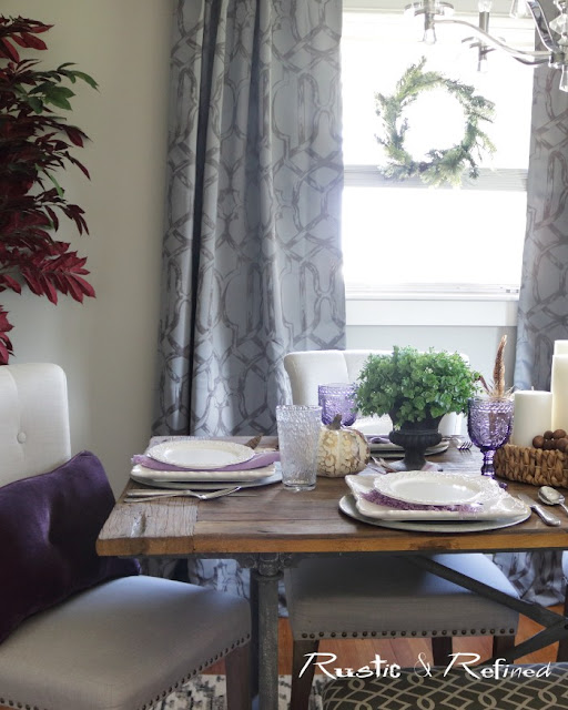 Quick and easy beautiful fall tablescape