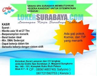 Info Lowongan Kerja Terbaru di Graha SPA Surabaya Juni 2019