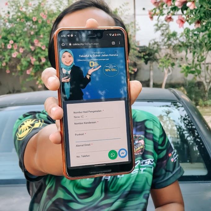 Bayar Insurans Dan Cukai Jalan (Roadtax) Online Secara Ansuran Dengan CAKNA