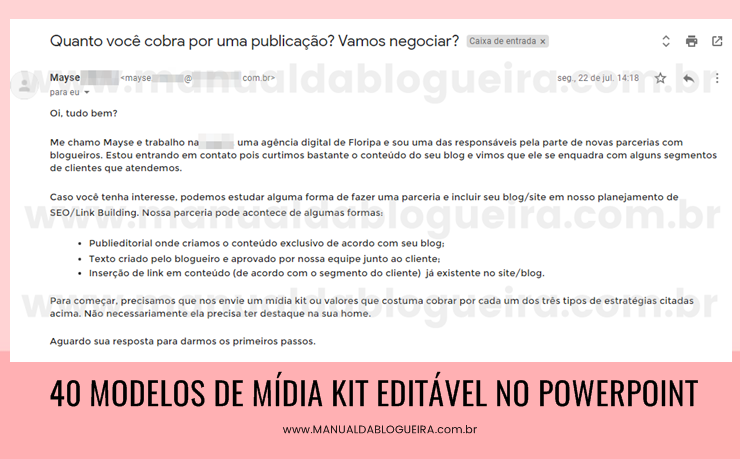 Mídia Kit Editável No PowerPoint