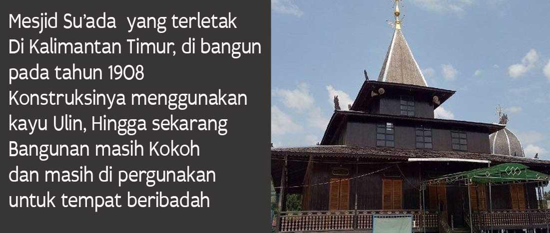 Lantai Kayu Ulin Mesjid Su'ada