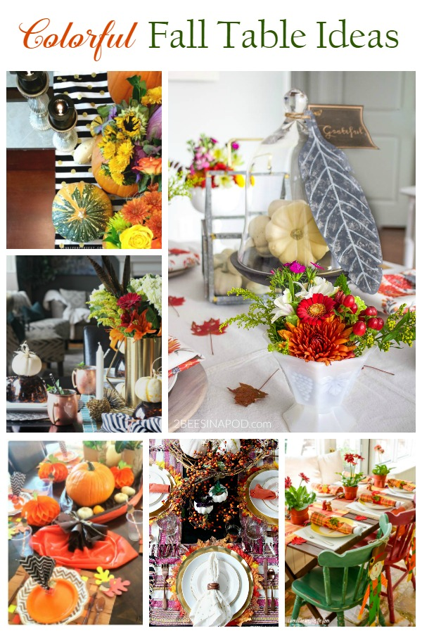 colorfull fall tablescape ideas