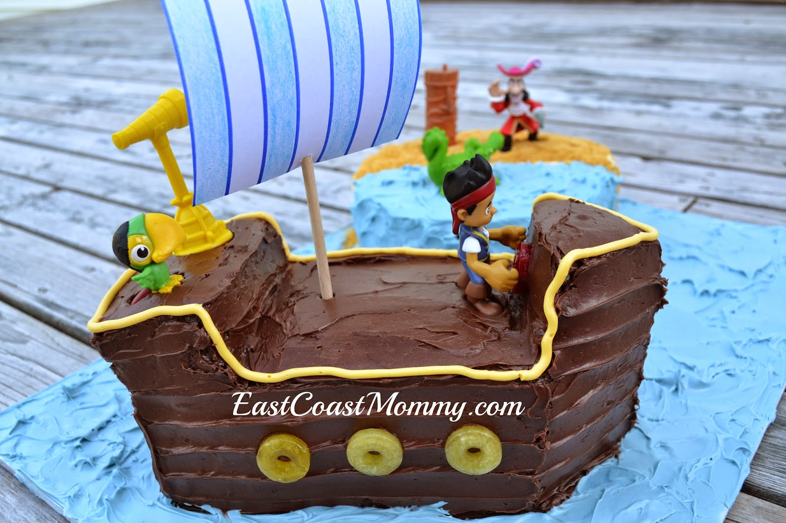 Jake And The Neverland Pirates Ship Birthday Cake