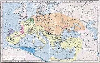 mapa de Europa en el siglo V