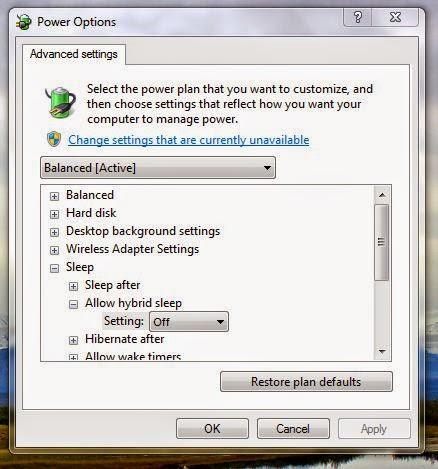 Change Advance Power Setting