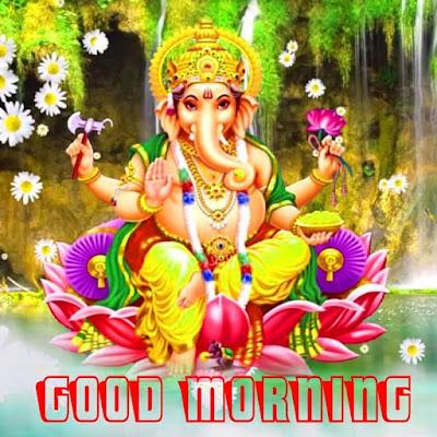 Good Morning Ganesh Ji Images and Status in Hindi