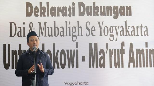 Ustadz Yusuf mansur dan Mubalig se-Yogya Dukung Jokowi-KH Maruf Amin