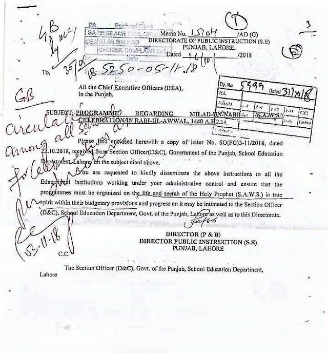 CELEBRATION OF MILAD-UN-NABI (S.A.W) IN RABI-UL-AWAL