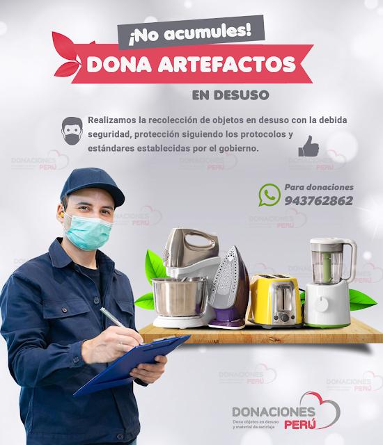 Dona artefactos en desuso en Lima