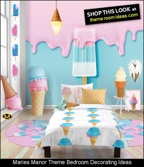 ice cream-themed bedroom ice cream bedroom decor