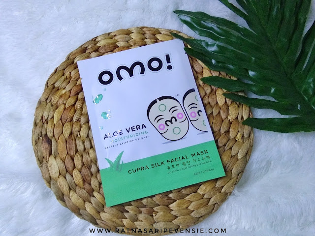 Review OMO! Cupra Silk Facial Mask - Aloe Vera