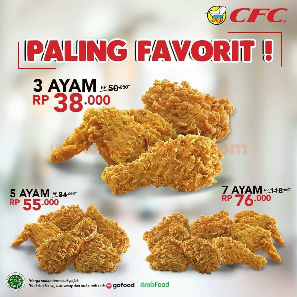 CFC Promo Paket Ayam Favorit –harga Spesial mulai Rp 38.000